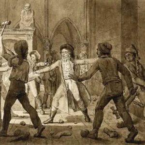 Anonimo - Alexandre LENOIR defendiendo los monumentos con tra la furia de los revolucionarios