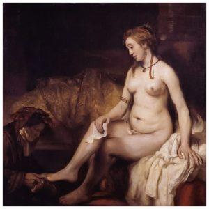 Rembrandt, Betsabé con la carta del Rey David, 1654