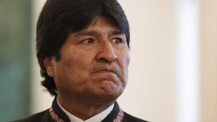 Evo Morales está molesto...