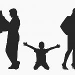 Padres separados con hijos pequeños
