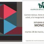 EXPOSICIÓN MONO LIRA. MARTES 28 MARZO