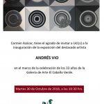 ANIVERSARIO GALERÍA EL CABALLO VERDE JUNTO AL ARTISTA ANDRÉS VIO